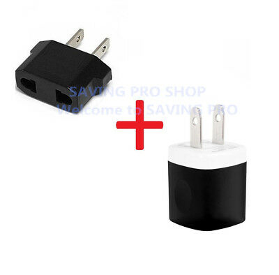 EU Europe to US USA Charger Plug Adapter European to American Converter