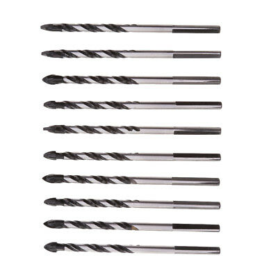 MagiDeal 10pcs Spear Head Twist Drill Bits Hole Saw For Tile Glass 6mm New