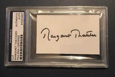 Margaret Thatcher Signed Page BAS Authenticated UK Prime Minister