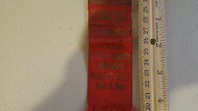 1908 Ribbon Essex County Ymca Town Boys Athletic Meet Haverhill Mass. Look!