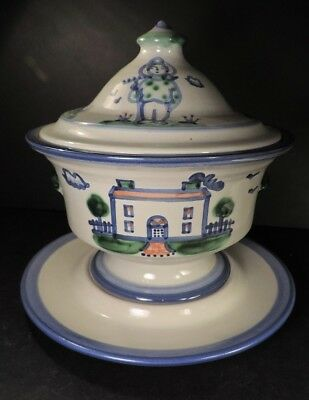 M. A. HADLEY (M A HADLEY)  LARGE TUREEN (WITH UNDER PLATE) absolutely MINT