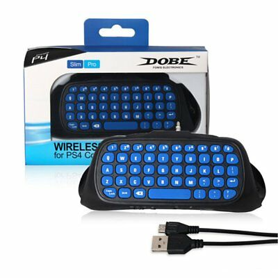Mini 2.4G Wireless Keyboard Adapter Chatpad Keypad for PS4 Controller FK