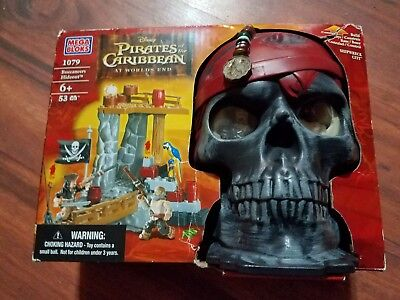 Mega Bloks Pirates of the Caribbean Buccaneer's Hideout Skull Playset #1079 new