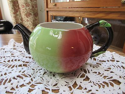 Vintage Carlton Ware Apple Teapot / Planter without lid Made in England EUC