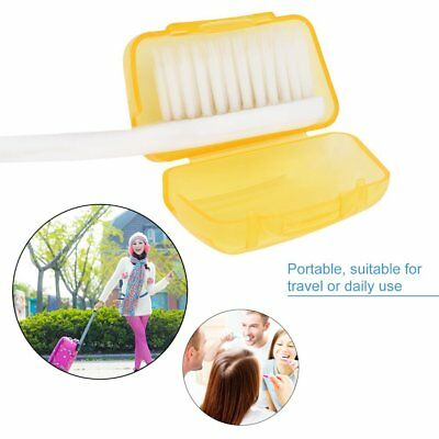 5 Portable Toothbrush head Cover Holder Travel Hiking Camping Brush Cap Case FK