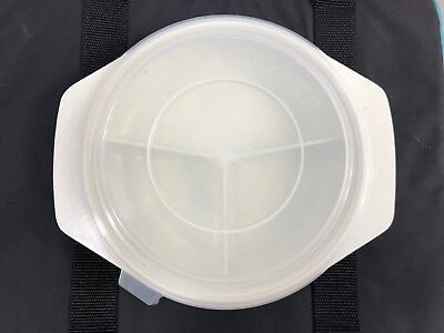 Nordic Ware Divided Microwave Plates Tray w Lid TV Dinner Plate