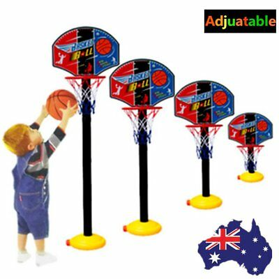Adjustable Kids Sports Portable Basketball Ball Hoop Toy Kit Set With Stand FL