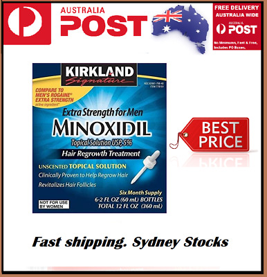 Kirkland Minoxidil 5% 6 month Hair Loss Treatment 6x60ml Regain 18MTH EXP SYDNEY
