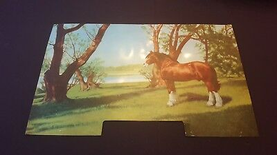 Vintage 1950s Budweiser Beer Clydesdale Lighted Sign Insert Panel