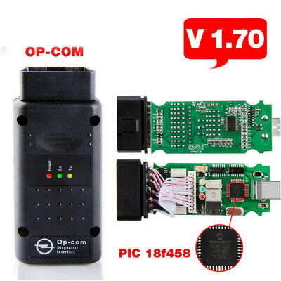 OP COM V1.7 Flashable PIC18F458 Chip OBD2 for Opel Car With Software EOBD