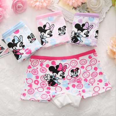 Newborn Baby Girls Minnie Underwear Cartoon boxer children 100% Cotton panties