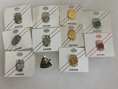 Vintage Obsolete Lot of AAA School Safety Patrol Pins - WOW!!! - Free Shipping