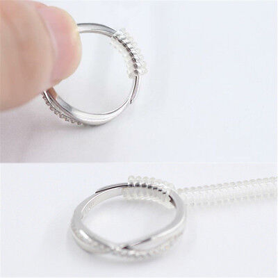 12pcs Ring Size Adjuster Reducer Resizing Guard Tightener Ring Spring Rope HOT E