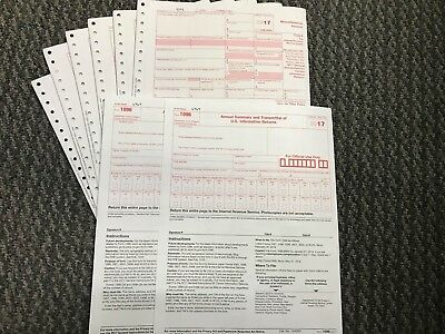 (12) 2017 IRS TAX FORMS 1099-MISC (12 Recipients) + 2 FORMS 1096