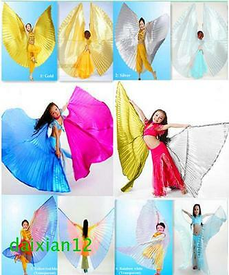 Open or Close Girl Kids Angel Wings Belly Dance Costume Children's Isis Wings