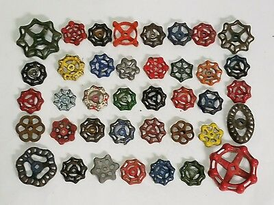 40C Colorful Beautiful Water Faucet Knob Valves Handle Steampunk Industrial Art