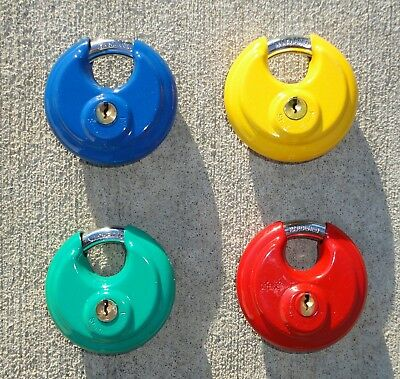 "4 pc.  2-3/4"" Colored, Keyed - Discuss Padlocks."