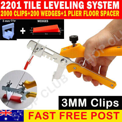 2201 Kit Tile Leveling System 2000 3mm Clips+200 Wedge+Plier Floor Tiling Spacer