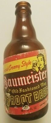 Baumeister Root Beer Bottle Soda Pop Collectable. Vintage rare