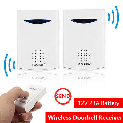 Brand New Portable Twin Pack Wireless Cordless Door Bell Chime 100M Range OZF