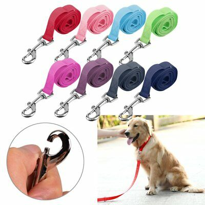 120*2cm Nylon Lead Leash Recall Pet Dog Puppy Long Training Obedience  F7