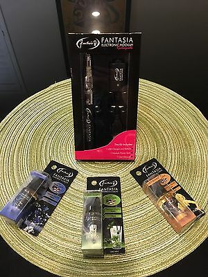 Fantasia Rechargeable Electronic Hookah with 5 Fantasia Juices