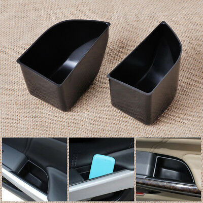 2Pcs for Accord 2008-2012 Front Door Armrest Secondary Storage Box Container