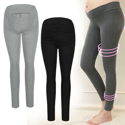 Lady Soft Maternity Leggings Full Length Pregnant Support Abdominal Belly Pants