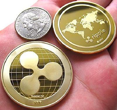 1x Ripple physical Collectible Coin Commemorative XRP World Coin Gold plated