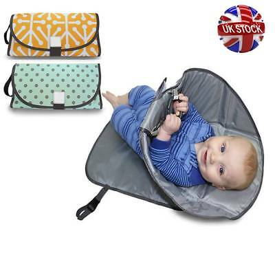 Portable 3in1 Clean Hands Changing Pad Baby Diaper Clutch Changing Help Station