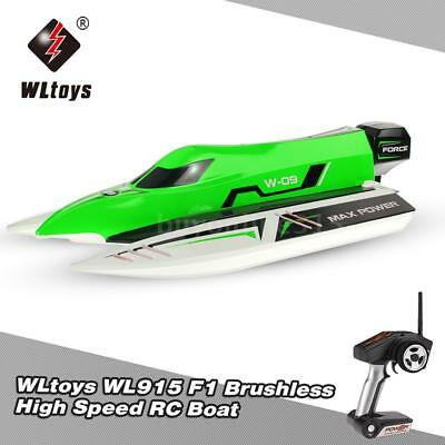 Original WLtoys WL915 2.4Ghz 2CH Brushless High Speed RC F1 Racing Boat O8I4