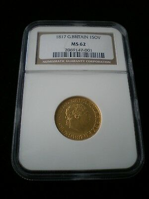 1817 Great Britain George III Gold Sovereign - NGC MS62
