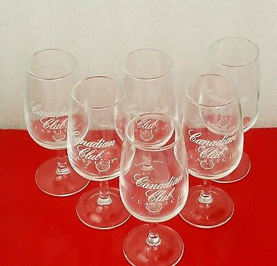 12 Canadian Club Classic Viticole Challenge Sampling Glasses Snifter Testing 4oz