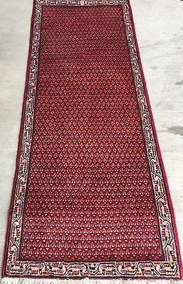 Tapis persan iraan Sarogh noué main laine tappeto teppich carpet rugs 198x77cm
