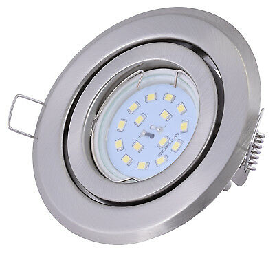 Ultra flacher LED Einbaustrahler 5Watt 400Lumen 230Volt schwenkbar Set Downlight