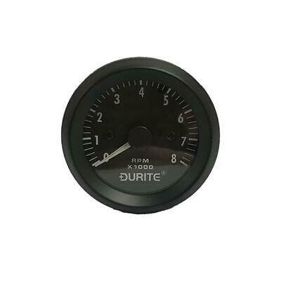 Durite 12V Illuminated 0-8000 RPM 4-6-8 Cyl Tachometer 52mm Gauge 0-523-20