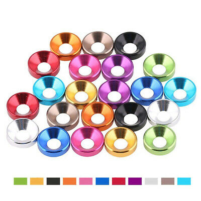 M5 Anodized Aluminium Colorful Countersunk Flat Head Washers Cup Screw Gasket