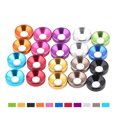 M3/m4 Anodized Aluminium Colorful Countersunk Flat Head Washers Cup Gasket