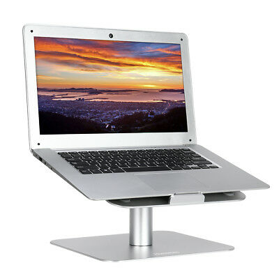"HOMEMAXS Laptop Holder Stand Dock For iPad MacBook 17"" Tablet Notebook Silver AU"