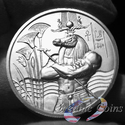Egyptian Gods Series Sobek Ultra High Relief 2 Oz Silver Coin - Ready To Ship