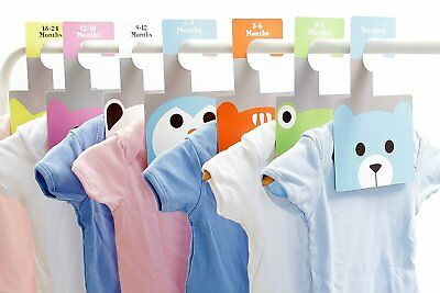Baby Wardrobe Dividers - 7 Peek-a-Boo Hangers | Baby Clothes Organisers
