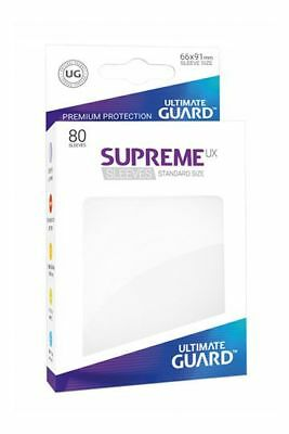 Ultimate Guard - Supreme UX Sleeves Standard White 80 Stück Kartenhüllen weiß
