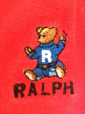 VTG Polo Bear Ralph Lauren Lounge Pants Medium Red Polo Sport