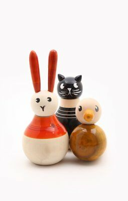 Caravan Heads Tails Etc: Cat, Rabbit,Duck Handcrafted Mix and Match Animal in