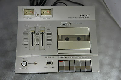Vintage Toshiba Stereo Cassette Deck Model PC-3110