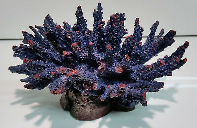 Aquarium Purple Acro Coral Ornament, Marine Fish Tank, Reef, Live Rock