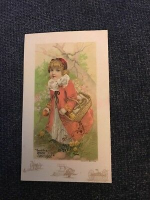 Victorian Trade Card Walter A Wood Co Hoosick Falls New York