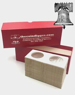 2 American Silver Eagle ASE Coin Storage Box RED 200 BCW Coin Holder 2.5x2.5