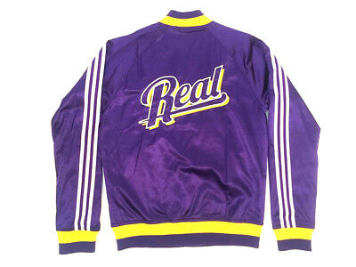 Adidas Originals Real Madrid College Jacket Jacke Violett Herren Größe 50