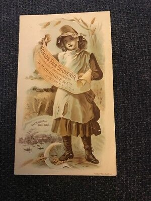 Victorian Trade Card DM Osbourne And Co Auburn Ny